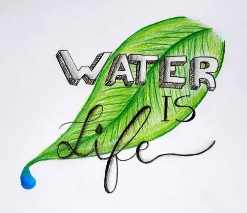 logo Water is Life by Andrea Silva